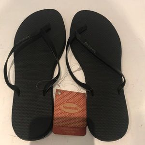 Havaianas You Black Leather strap size 6
